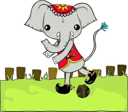 Elephant is symbol of Thailand , they are big and strong so someone be scared  it but in Thailand you can fun with them and like them more than before. Vector