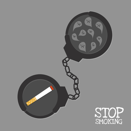 shackle: shackle and smoke were loging by shackle and word  stop smoking .