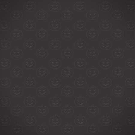 カボチャのハロウィーンの日黒い背景に白い線。