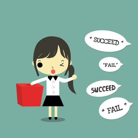実業家の bos チャンス whith 言葉成功と失敗します。