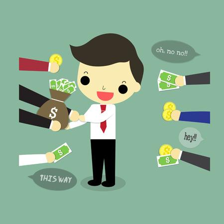ビジネスマンは、最も利益を与える提案を選択します。