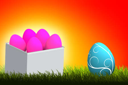 easter eggs over hot background  Stock Photo - 13782207