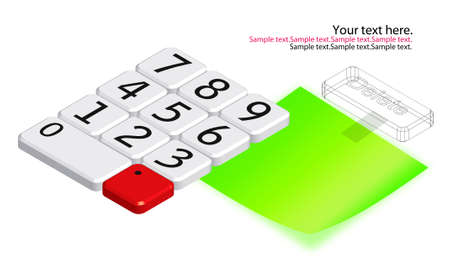 number key with note paper Stock Photo - 13782141