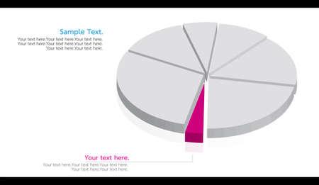 dimension: dimension pie graph Stock Photo