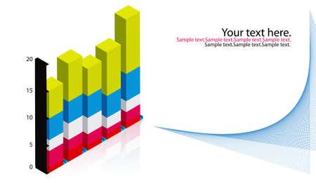 dimension: dimension stack graph Stock Photo