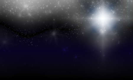 gleam: dark color abstract background with bokeh lights and stars
