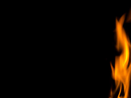 fire flames on black background,