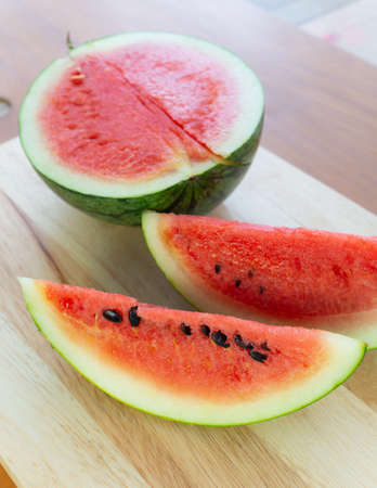 Top view image Watermelon slice background,