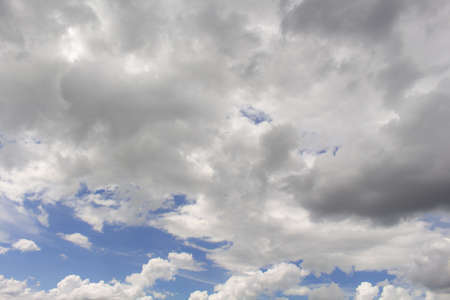 White clouds in the blue sky background,