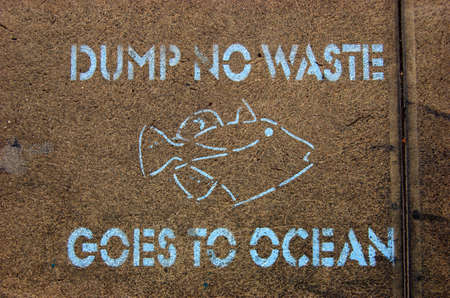 dumping: No Dumping to Ocean Sign