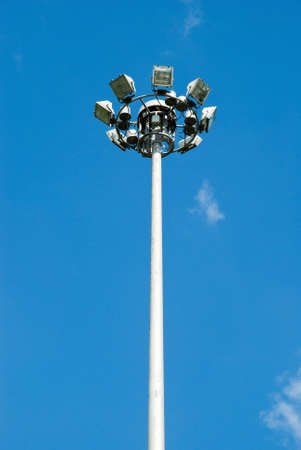 Lamppost at day with blue sky photo