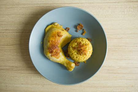 Thai Rice and Chicken Biryani  Khao Mok Gai  photo