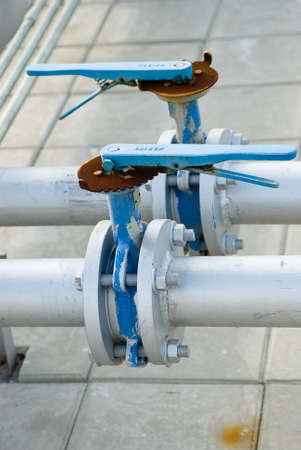 Pipe lines with valve photo