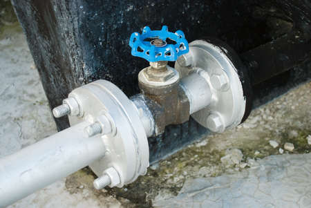 Water Tank Valve with Pipe lines photo