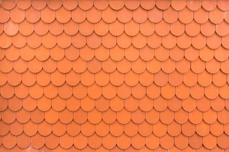 exterior architectural details: Pattern of orange terracotta roof tiles