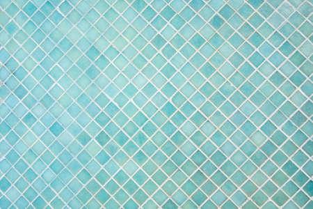 Pattern of blue square tiles mosaic Standard-Bild