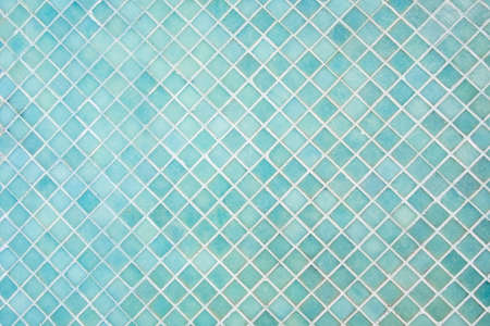 mosaic wall: Pattern of blue square tiles mosaic Stock Photo