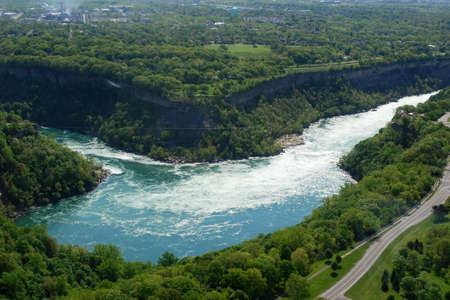 niagara river: Sky view of Niagara River