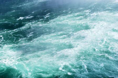 water wave: Green foamy water wave