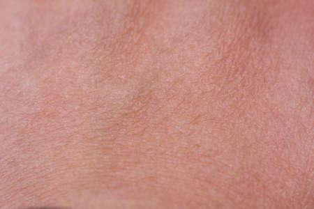 Close Up Arriba Textura de la piel de la mano con algunos pelos