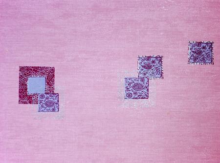purple wallpaper: Purple wallpaper texture with squares Stock Photo