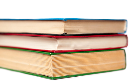 bibliophile: A lot of good old books Stock Photo