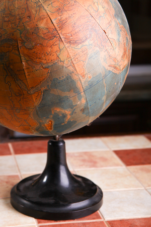 old world: Very old and globe of the old world