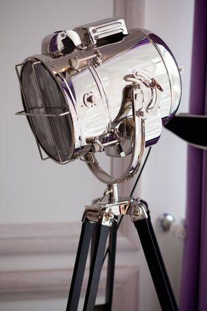 destined: Professional floor lamp for photostudio, destined to studio lighting Stock Photo