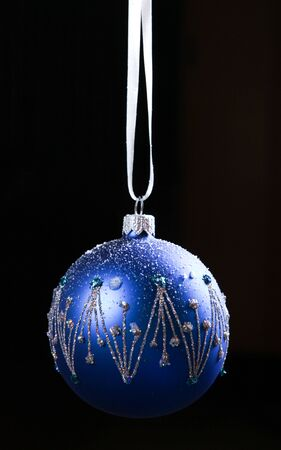 color balls: Christmas decoration color balls at black background