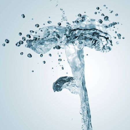 fluidity: picture of fresh liquid splash in the shape of flower Stock Photo