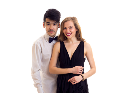 Young Couple In Formal Dresses Stock Photo Picture And Royalty Free