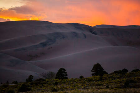 Great Sand Dunes National Park in Colorado Фото со стока