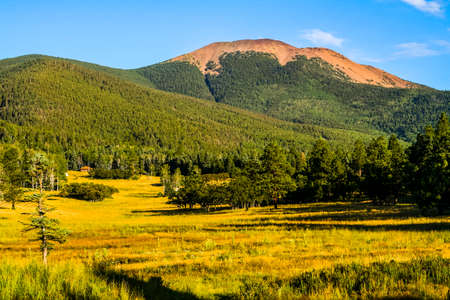 Landscape of northern New Mexico and Mount Baldy