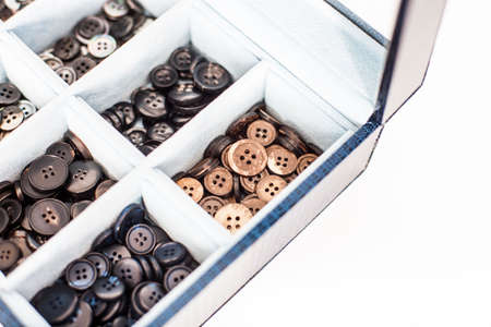 tailored: Buttons used for bespoke tailored suits Stock Photo