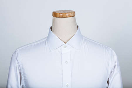 Tailored white shirt on a mannequin Archivio Fotografico