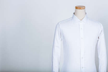 Tailored white shirt on a mannequin Stock Photo