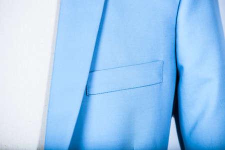 Light blue suit jacket on a mannequin