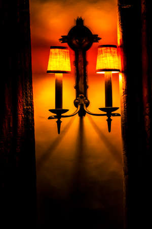 Lamp with orange tones with a style of the American southwest