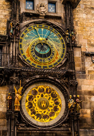 The Astronomical Clock in downtown Prague, Czech Republic