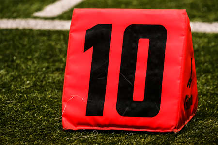 americal: Yard markers on an Americal football field