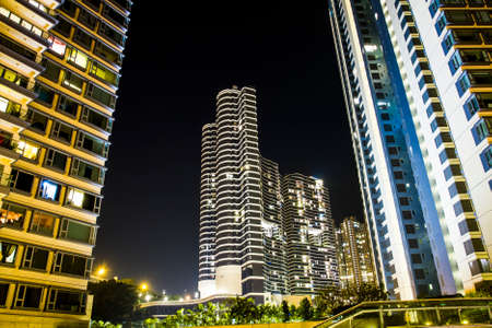 upscale: Upscale residential apartment block in Hong Kong Stock Photo