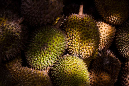 Pile of Durian fruit