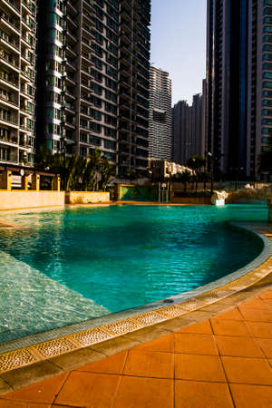 upscale: Upscale residential apartment block in Hong Kong Editorial