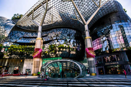 Singapore, Singapore - 7 January, 2017: Orchard Ion, one of the premiere malls in the city, on a sunny afternoon