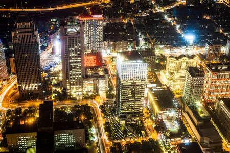 Taipei, Taiwan - 3 October, 2012: Cityscape of Taipei from a high vantage point at nighttime Reklamní fotografie