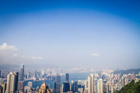 Skyline of Hong Kong in the afternoon Reklamní fotografie