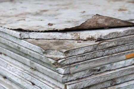 deteriorating: stacking of gypsum sheets
