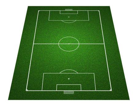 terrain foot: Perspective de football sur le terrain