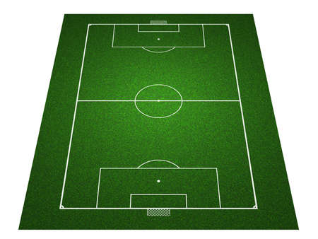 football pitch: Perspective Football field