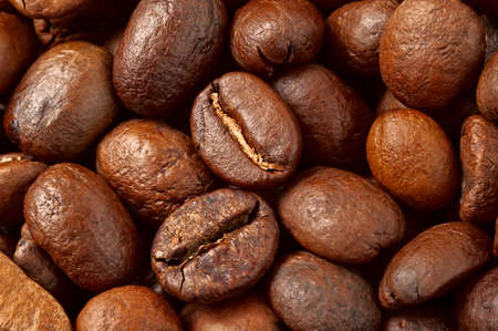 Studio Shot of Coffee Beans Stock Photo